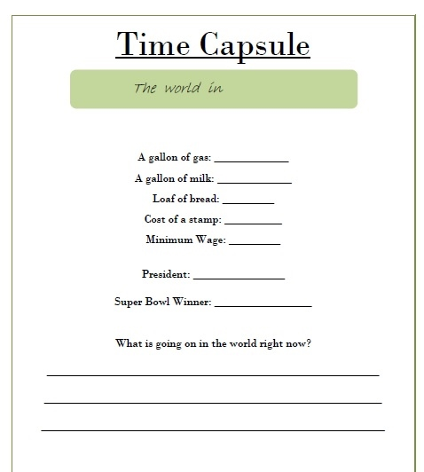time capsule questionnaire call a babysitter. Black Bedroom Furniture Sets. Home Design Ideas